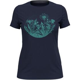 Odlo Kumano Print T-Shirt S / S Crew Neck Damer, blå